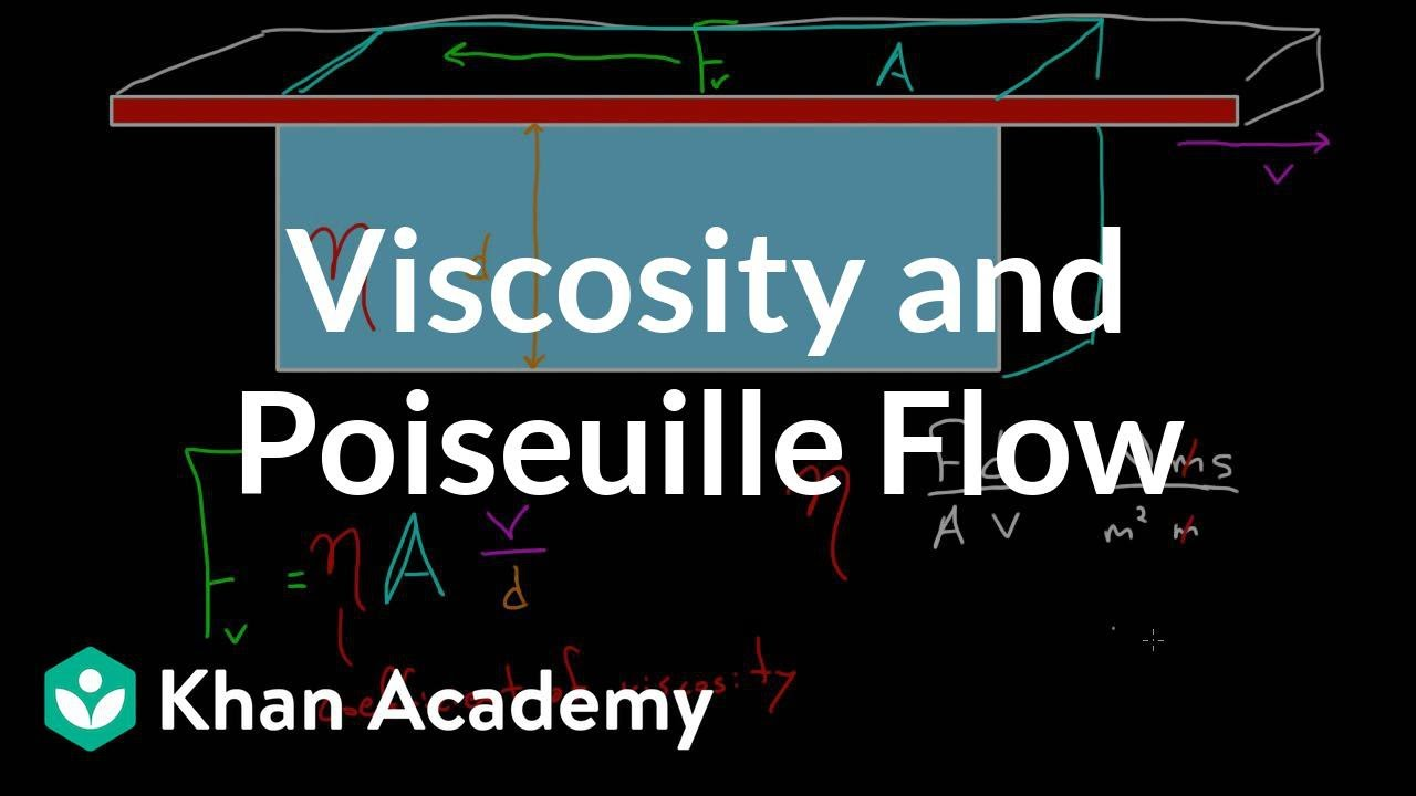 Viscosity and Poiseuille flow (video) | Khan Academy