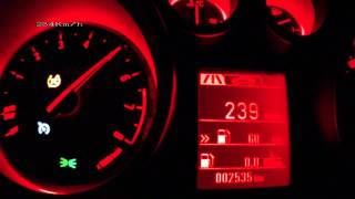 Opel Astra OPC 2012 - acceleration 0-240 km/h + Vmax test