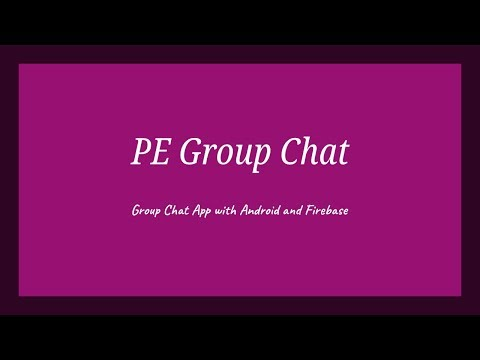PE Group Chat Application Part 1 Firebase Setting And Basic Designing