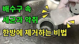 배수구 속 세균과 악취를 한방에 제거하는 비법