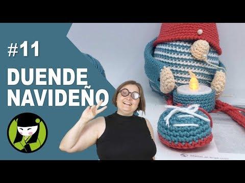 zapato facil para duende amigurumi 11 forma parte del duende navideño a crochet