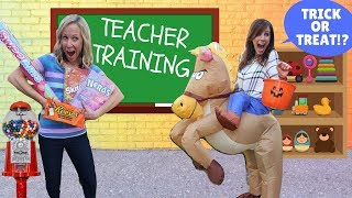 Teacher in Training at Fake Toy School !!!