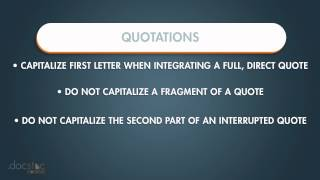 Quotations - Business Writing & Grammar