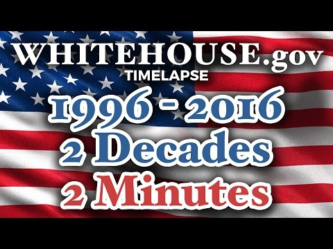 Whitehouse.gov 1996-2016 TIME LAPSE: 2 decades in 2 minutes