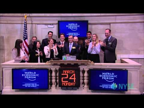 The World Economic Forum Visits the New York Stock Exchange