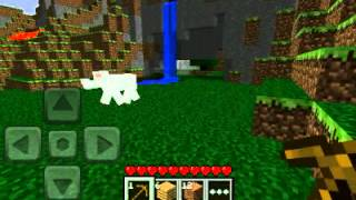 Minecraft pe - андроид обзор, геймплей.
