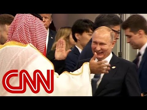 Vladimir Putin high-fives Saudi Crown Prince Mohammad Bin Salman Al Saud at G20