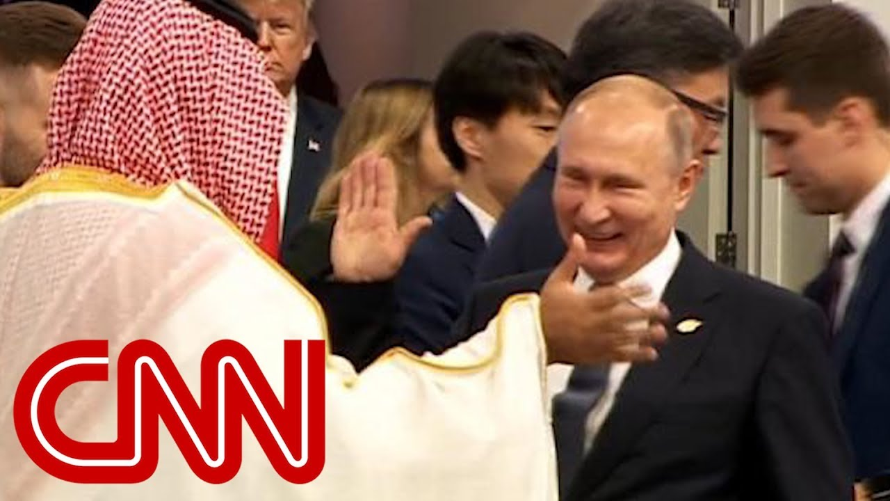 Vladimir Putin high-fives Saudi Crown Prince Mohammad Bin Salman Al Saud at G20