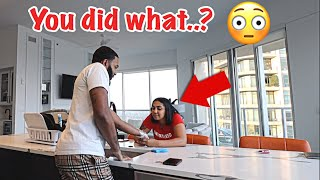 """I TATTOOED YOUR NAME"" PRANK ON GIRLFRIEND.."