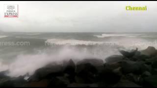 Cyclone Gaja: Heavy winds hit Chennai beaches