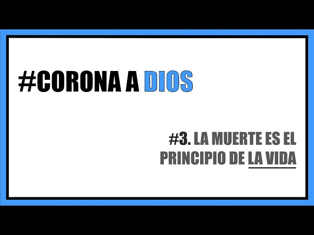 #3. La muerte es el principio de la vida | Pr. Benigno Sañudo