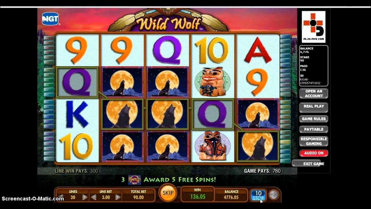 Wild wolf slot game magasin casino le rouret