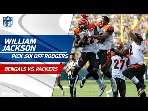 William Jackson's Huge Pick Six off Aaron Rodgers! | Bengals vs. Packers | NFL Wk 3 Highlights