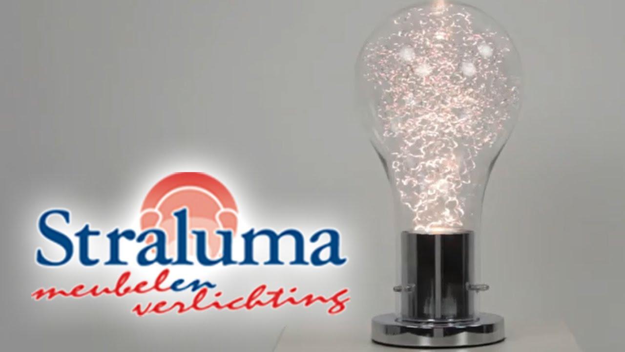 Moderne chromen tafellamp gloeilamp | 23220005 | Straluma Meubelen ...