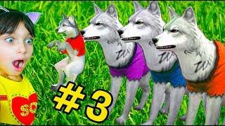СИМУЛЯТОР МАЛЕНЬКОГО ПИТОМЦА #3 ВОЛЧАТА Симулятор Жизни Зверей про котят лис  и собак Валеришка