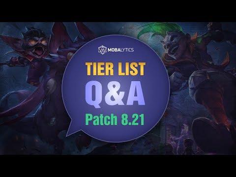 League of Legends Patch 8 21 Tier List for Climbing Solo