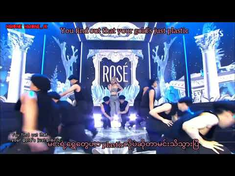 Rosè_On The Ground Stage mixed Myanmar Subtitle with English lyrics