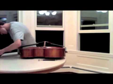 How not to set a cello soundpost