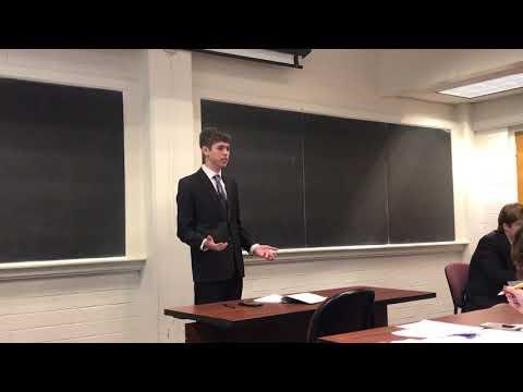 Erik argues pro in January 2018 Public Forum Debate