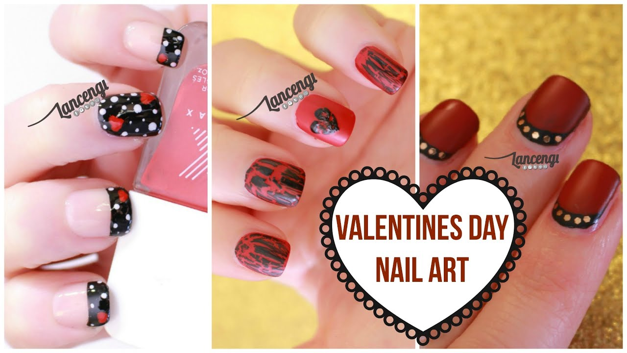 DIY Cute & Easy Nail Art For Beginners #22 : Valentines Day Nail ...