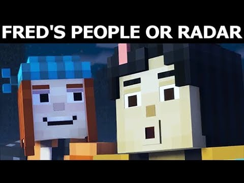 Save Freds People Or Return With Radar Minecraft Story Mode Season 2 Episode 4