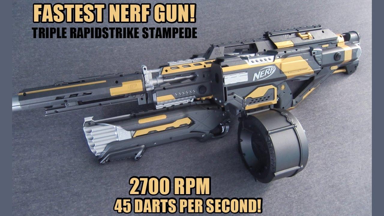 Fastest Nerf Gun Triple Rapidstrike Stampede W