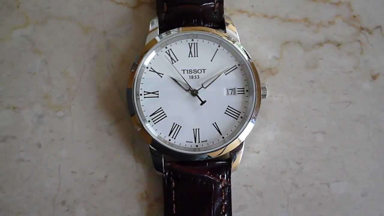 reloj tissot classic dream white dial youtube. Black Bedroom Furniture Sets. Home Design Ideas