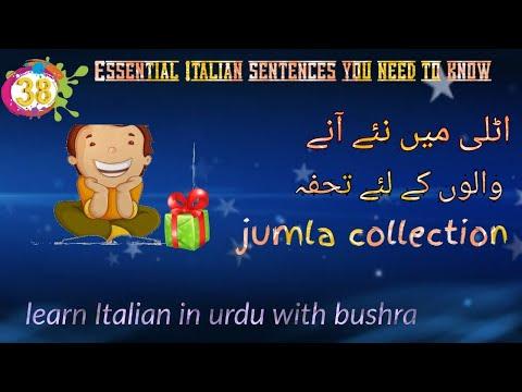 38. 100+ Jumly For Beginners || Online Italian Lessons For Beginners || Learn Italian In Urdu