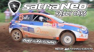 Proton Satria Neo Rally Cars - Pure Car Sound (including Proton R3 and MRU Motorsports)