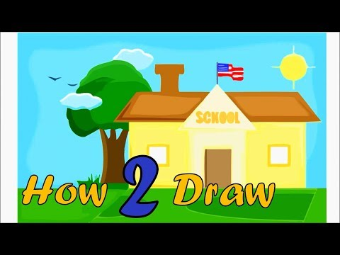 How to Draw Beautiful American School- Arts for Kids