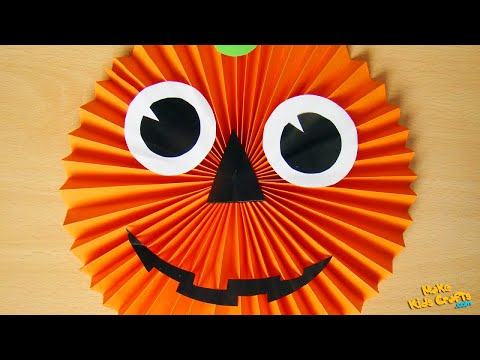 How to make a Paper Pumpkin? - Halloween Decorations