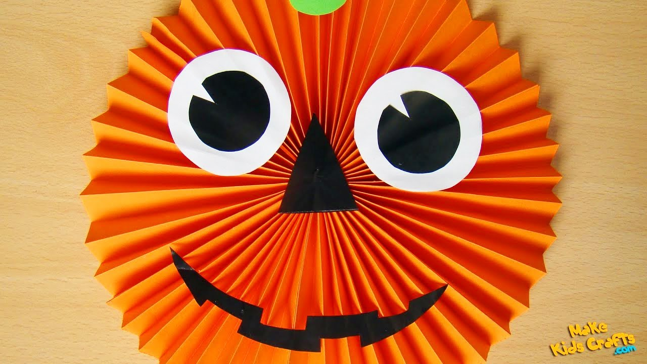 how to make a paper pumpkin halloween decorations youtube - Halloween Decorations Pumpkins