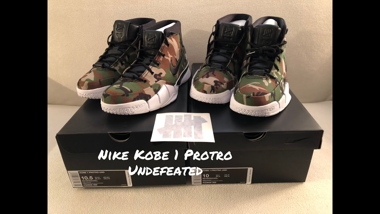 afaac164152 Quick Double Unboxing Nike Kobe 1 Protro Undefeated - YouTube