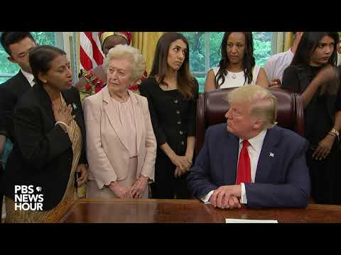 WATCH: Trump meets with survivors of religious persecution a