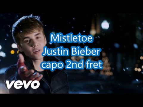 mistletoe justin bieber lyrics and chords