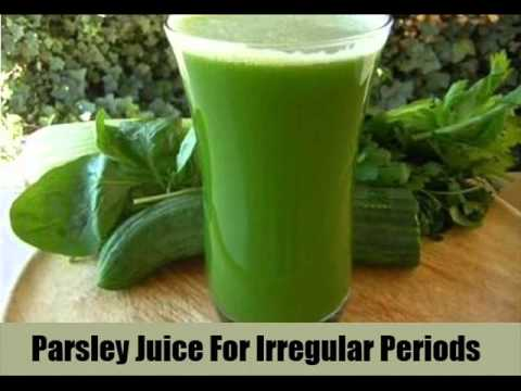 parsley juice for periods