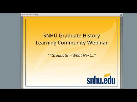 I Graduate - What Next?