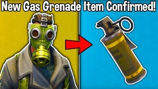 NEW 'GAS GRENADE' ITEM *LEAKED* IN FORTNITE! (New Stink Grenade Confirmed)