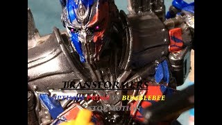 SPOILER Transformers the last knight optimus vs bumblebee stop motion streaming