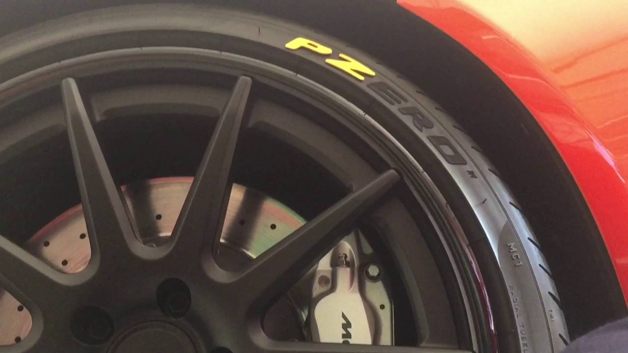 Tredwear Pirelli Tire Sticker Installation On Supercar