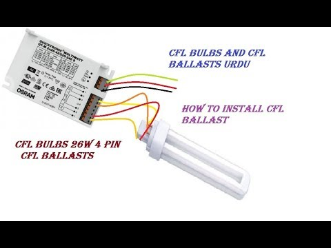 CFL Bulbs and CFL Ballasts Urdu 26w / 4Pin Lamp - YouTubeYouTube