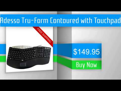Adesso Tru-Form Contoured with Touchpad