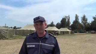 Лагерь для вынужденных переселенцв в Волновахе Донецкой области 1/3