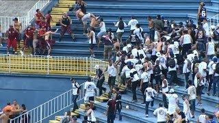 Briga no estádio entre Atlético-PR e Vasco - 08/12/2013