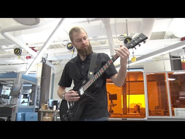 3D Printed Guitar from RIT's AMPrint Center