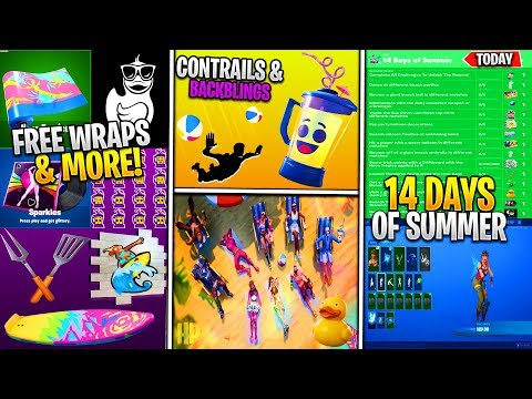 *NEW* Fortnite Update: ALL LEAKED 14 DAYS OF SUMMER REWARDS! (Event Date, Cosmetics, FREE REWARDS!)