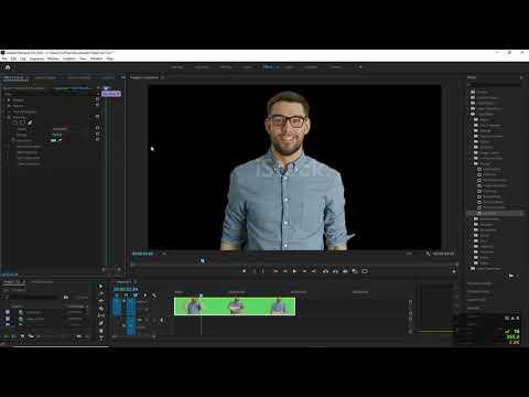 Adobe Premiere Pro 2020 - 12 - Xóa phông xanh và hiệu ứng Track Matte