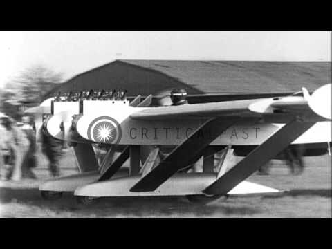 Guggenheim Aircraft Competition at Mitchel Field in New York HD Stock Footage
