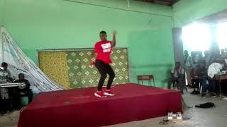 Wan Ted danced to Shatta Wale(ma paddy u chop)@Adasco 2017