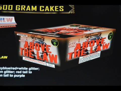 Above the Law - Alien Fireworks (500g Cake)